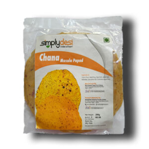 Chana Masala Papad